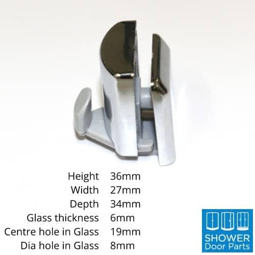 C3G bottom guide dimensions ShowerDoorParts