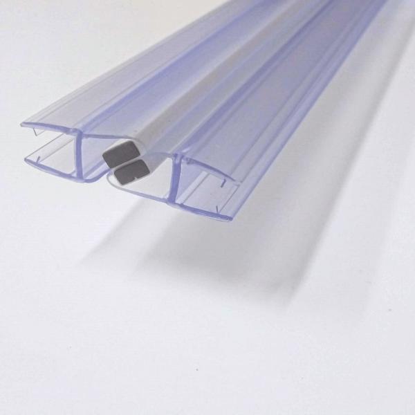 Magnetic door seal 8mm glass 1900mm long flat shower door parts