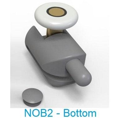 NOB2 - Bottom wheel shower door parts