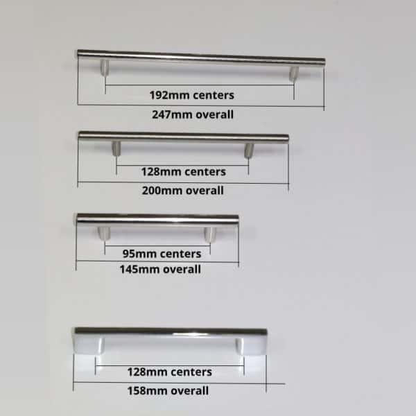 Vanity handles -1- dimensions