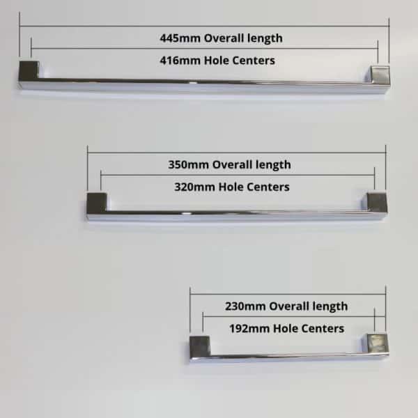 Vanity handles -2- dimensions